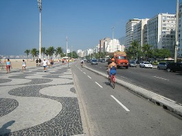 beachfront bike path Rio 3w