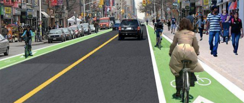 Bike lanes on Bloor - highlight 2
